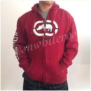 {Ecko Unltd} Red Full Zipper Hoodie